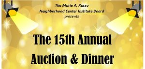 The 15th Annual Auction & Dinner logo