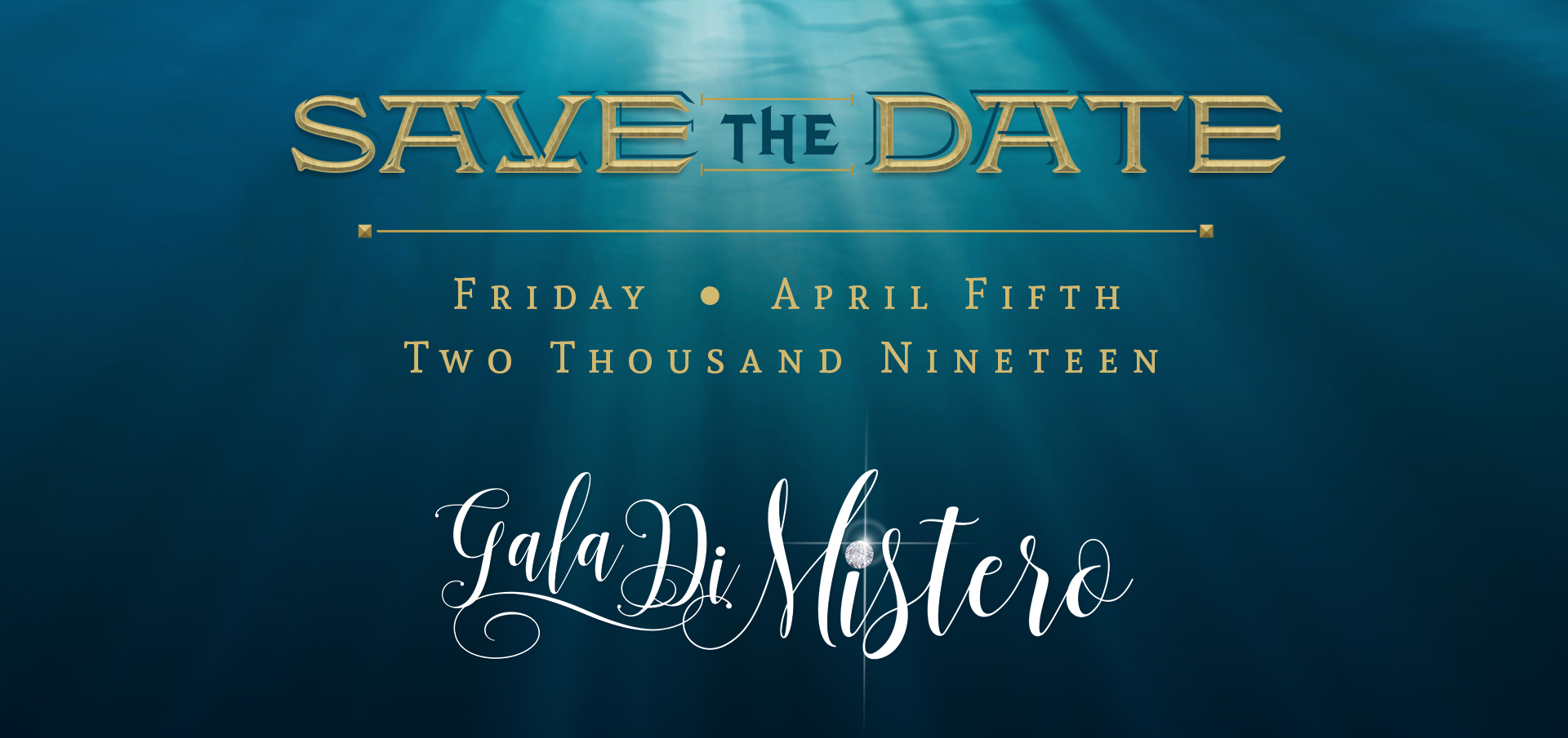 3rd Annual Gala Di Mistero set for April 5th