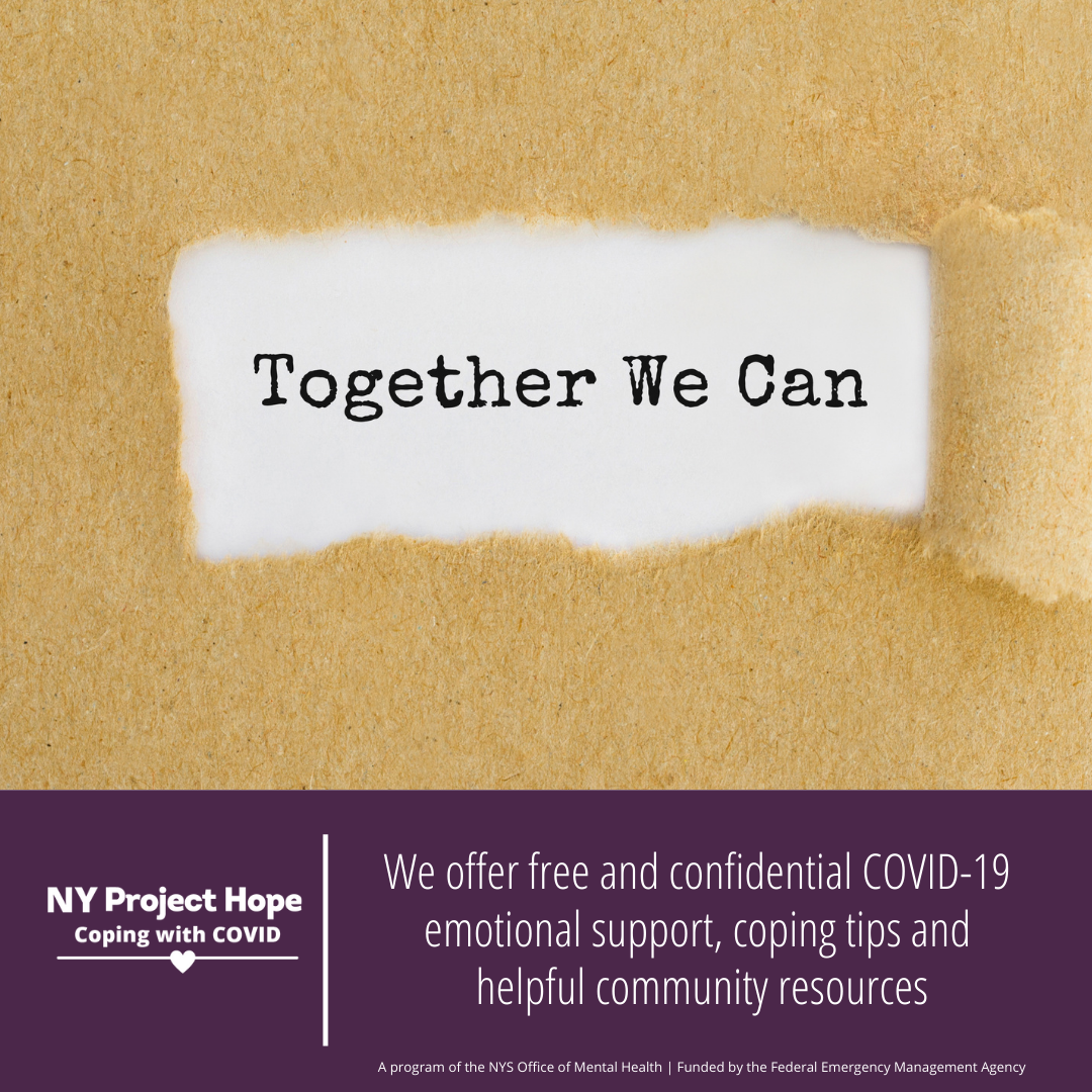 The Neighborhood Center to Counsel Community Members Struggling with COVID Issues thru NY Project Hope
